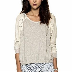 Free People Only You Crochet Lace Hoodie S